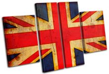 Abstract Union Jack Maps Flags - 13-1148(00B)-MP17-LO